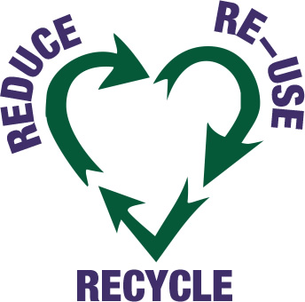 reduce, recycle and reuse