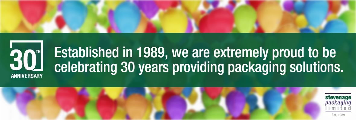 Stevenage Packaging was established in 1989 and are celebrating 30 years of service
