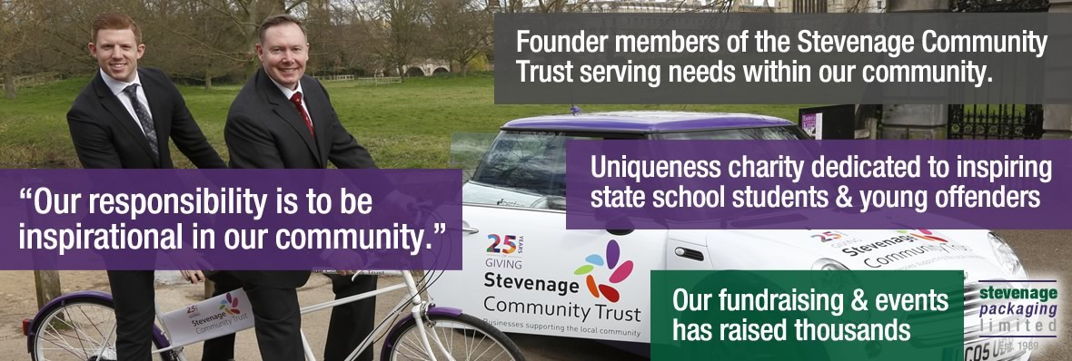 Our responsibility is to be inspirational in our community, we're also founder members of the Steveage Community Trust