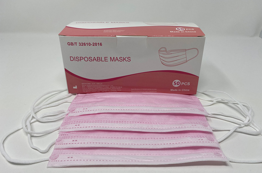 Pink 3 Ply Face Coverings with Earloops