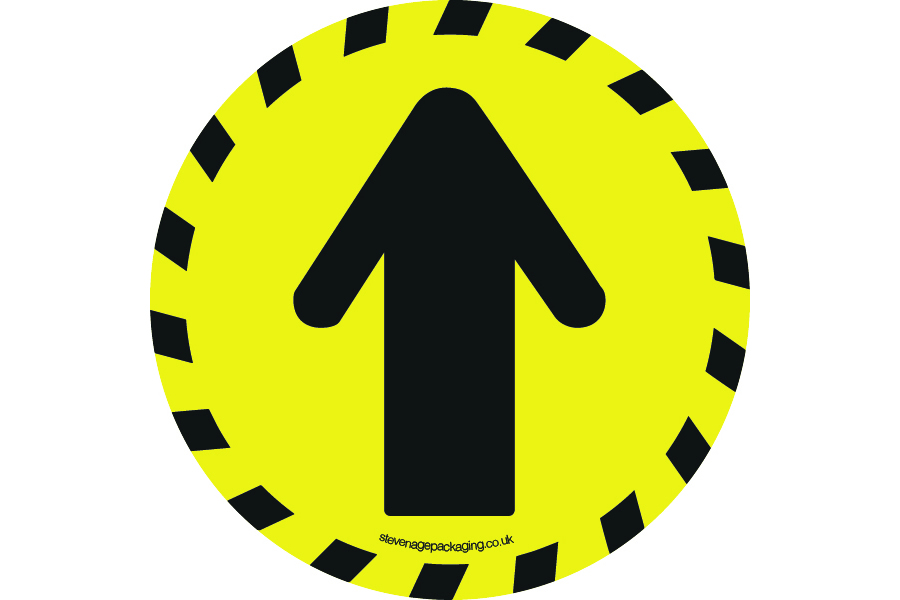Arrow Floor Stickers Yellow / Black