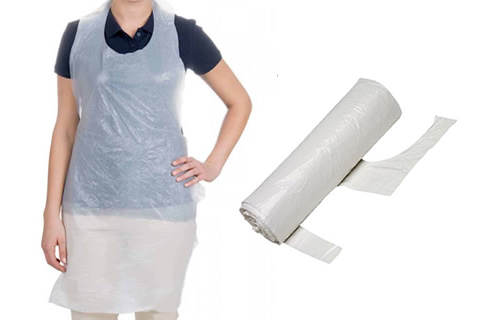 Disposable Polythene Aprons on a Roll