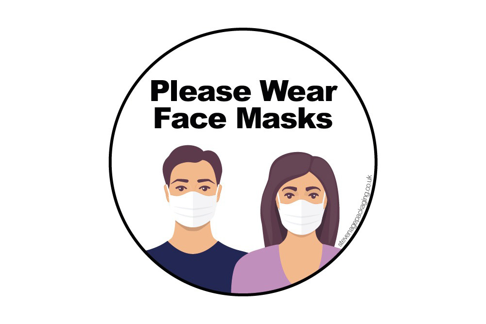 Please Wear Face Masks </br>Stickers<br>