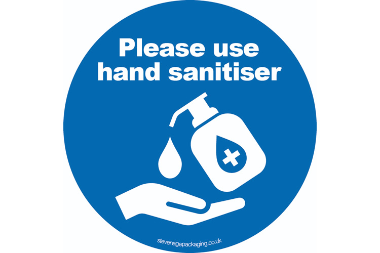 Please Use Hand Sanitiser Stickers